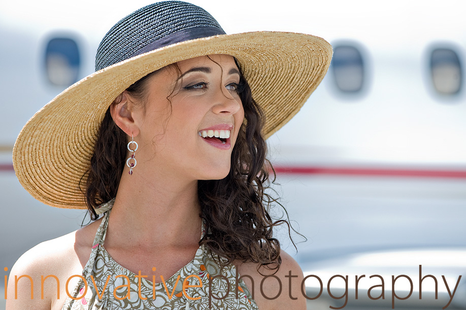 Affluent Travel - Beautiful woman with a private jet.